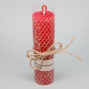 Свеча из вощины с травой Лакрица 13х3,5см