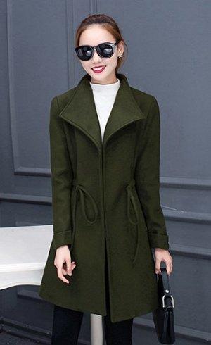 Пальто Пальто, оформленное воротником с лацканами, полиэстер/смесь хлопка. Размер (обхват груди, длина рукава, длина изделия, см): M (108,56.5,91), L (112,58,92), XL (120,60.5,94), 2XL (124,61,95), 3X