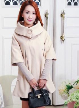 Пальто Пальто, оформленное длинными рукавами, полиэстер/смесь шерсти. Размер (обхват груди, обхват талии, длина рукава, длина изделия, см): XS (88,108,68,74), S (92,112,68,75), M (96,116,68,76), L (10
