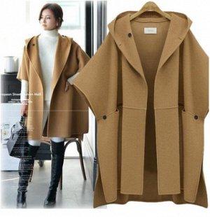 Пальто Пальто, оформленное капюшоном, смесь шерсти/полиэстер. Размер (длина изделия, см): XL (88), 2XL (89), 3XL (90), 4XL (91), 5XL (92)