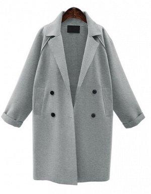 Пальто Пальто, оформленное воротником с лацканами, смесь шерсти/полиэстер. Размер (обхват груди, длина рукава, длина изделия, см): S (102,54,105), M (106,54,106), L (110,55,107), XL (114,55,108)