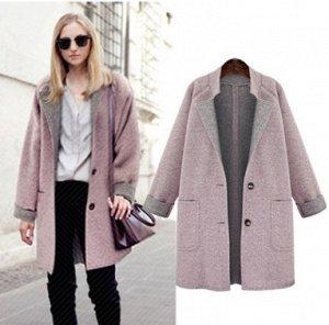 Пальто Пальто, оформленное воротником с лацканами, смесь шерсти/полиэстер. Размер (обхват груди, длина рукава, длина изделия, см): L (110,68,84), XL (116,67,85), 2XL (122,68,86), 3XL (128,69,87), 4XL