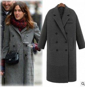 Пальто Пальто, оформленное воротником с лацканами, смесь шерсти/полиэстер. Размер (обхват груди, длина рукава, длина изделия, см): S (96,58,110), M (100,59,110), L (104,60,110), XL (108,61,110), 2XL (