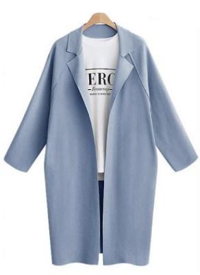 Пальто Пальто, оформленное воротником с лацканами, полиэстер. Размер (обхват груди, длина изделия, см): M (96,102), L (102,103), XL (108,104), 2XL (114,105), 3XL (120,106)