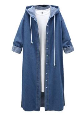Пальто Пальто, оформленное длинными рукавами и капюшоном, смесь хлопка. Размер (обхват груди, длина рукава, длина изделия, см): L (100,50,115), XL (104,51,116), 2XL (108,52,117), 3XL (112,53,118), 4XL