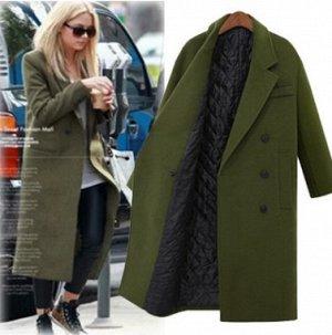 Пальто Пальто, оформленное воротником с лацканами, смесь шерсти/полиэстер. Размер (обхват груди, длина рукава, длина изделия, см): XS (84,58,110), S (88,58,110), M (92,59,110), L (96,60,110), XL (100,