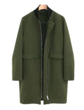 Пальто Пальто, оформленное длинными рукавами, смесь шерсти/полиэстер. Размер (обхват груди, длина рукава, длина изделия, см): XL (114,57.5,85), 2XL (120,58.5,86), 3XL (126,59.5,87), 4XL (132,60.5,88)