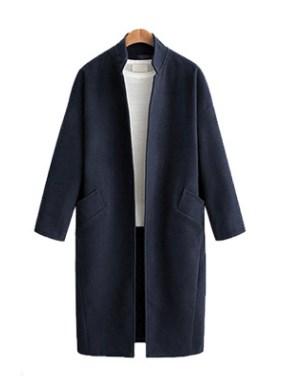 Пальто Пальто, оформленное длинными рукавами, смесь шерсти/полиэстер. Размер (обхват груди, длина рукава, длина изделия, см): XL (112,46,107), 2XL (118,47,108), 3XL (124,48,109), 4XL (130,49,110)