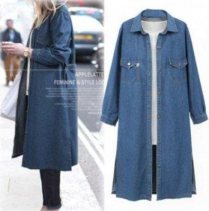 Пальто Пальто, оформленное длинными рукавами, смесь хлопка. Размер (обхват груди, длина рукава, длина изделия, см): L (104,55,111), XL (108,56,112), 2XL (112,57,113), 3XL (116,58,114), 4XL (120,59,115