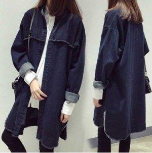 Пальто Пальто, оформленное длинными рукавами, смесь хлопка. Размер (обхват груди, длина рукава, длина изделия, см): M (108,52,96), L (114,53,98), XL (120,54,100)