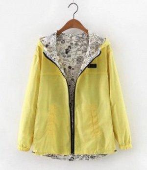 Куртка Куртка, оформленная длинными рукавами и капюшоном, полиэстер. Размер (обхват груди, длина рукава, длина изделия, см): XS (94,54,68), S (98,55,69), M (102,56,70), L (106,57,71), XL (110,58,72),