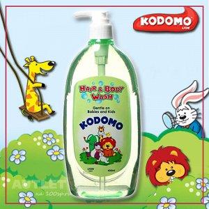 """LION """"Кодомо"""" Средство д/мытья 400мл """"От макушки до пяточек"""" для детей с дозатором /12шт/ Таиланд"""