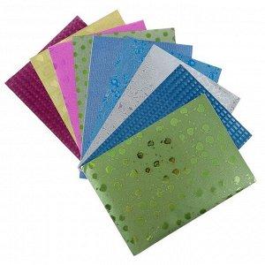 Бумага цветная, формат А4, 10 листов, 10 цветов, самоклеящаяся, с рисунком, плотность 70 г/м3, 11 мкр
