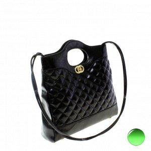 Стильная женская сумочка Tinel_France из эко-кожи черного цвета.