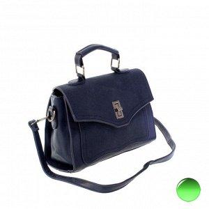 Стильная женская сумочка через плечо Mechel_Fols из эко-кожи цвета темного индиго.
