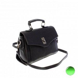 Стильная женская сумочка через плечо Mechel_Fols из эко-кожи черного цвета.