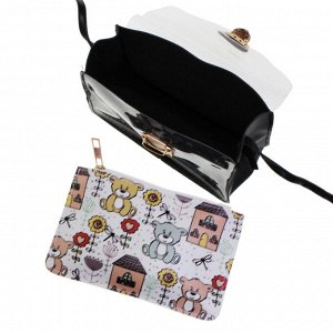 Прозрачная сумочка Electric белого цвета с ремешком через плечо.