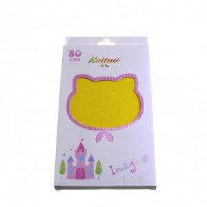 Рост 130-150. Детские колготки Kaituo. 80 Den.  Желтого цвета .