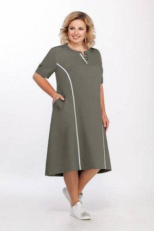 Платье Платье LaKona 1219 морской зеленый  Состав ткани: Вискоза-72%; ПЭ-28%;  Рост: 164 см.  Платье. Выполнено из легкой плательной ткани с вискозой в стиле бохо, отделка - спортивная тесьма. Застеж