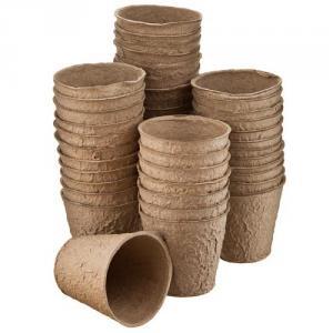 Горшки Торфяные Фаско 80*80  (1 упаковка = 180 шт) круглые