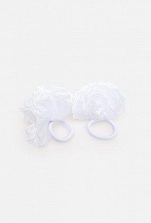Набор из 2 резинок для волос дет. Pompa белый