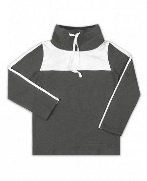 Спортивный джемпер для мальчика серого цвета Цвет: серый
