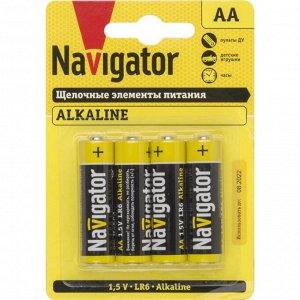Батарейки Navigator 61 463 NBT-NPE-LR6-BP4 (80)(Цена за 4 шт.)
