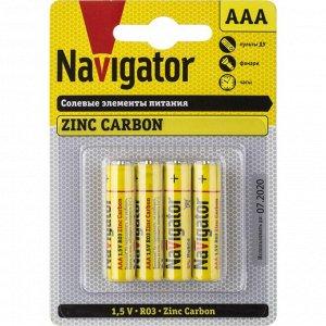 Батарейки NAVIGATOR 94 767 NBT-NS-R03-BP4 (48\240)(Цена за 4 шт.)