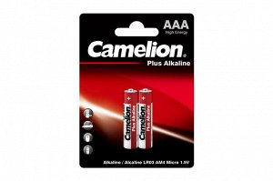 Батарейки Camelion  LR03  Plus Alkaline BL-2 (LR03-BP2, батарейка,1.5В) (24)(Цена за 2 шт.)