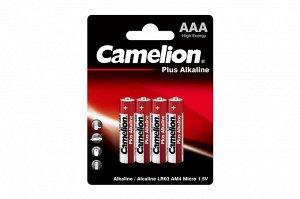 Батарейки Camelion  LR03  Plus Alkaline BL-4 (LR03-BP4, батарейка,1.5В) (48)(Цена за 4 шт.)