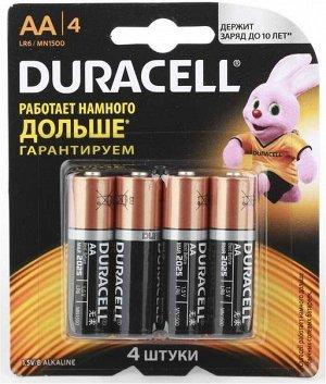 Батарейки DURACELL LR 6-4BL Basic  K4 (48/192)(Цена за 4 шт.)