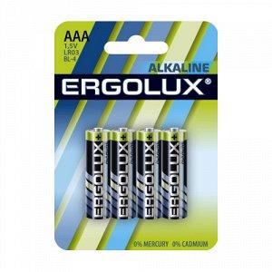 Батарейки Ergolux  LR03 Alkaline BL-4 (LR03 BL-4, батарейка,1.5В) (40)(Цена за 4 шт.)