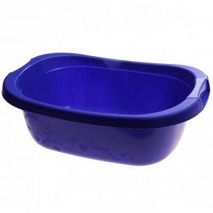 Таз прямоугольный 22 л, цвет лазурно-синий