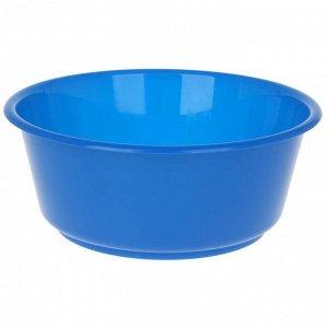 Таз круглый «Кливия», 10 л, цвет синий