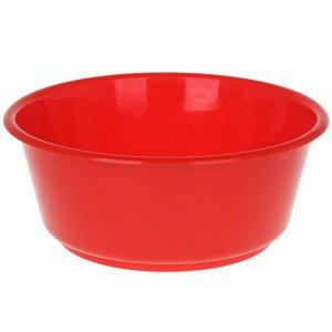Таз круглый «Кливия», 10 л, цвет красный