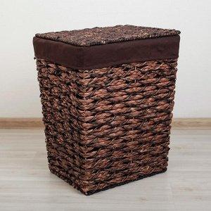 Корзина универсальная плетёная Доляна «Классика», 45?36?55 см, большая, цвет коричневый