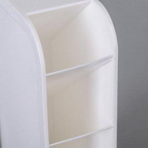 Органайзер 4-х секционный 92х50х205 мм, цвет белый