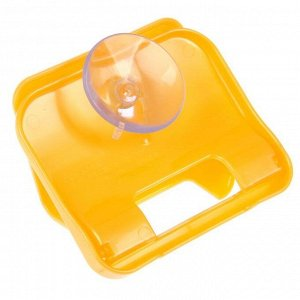 Держатель для губки на присоске, цвет оранжевый