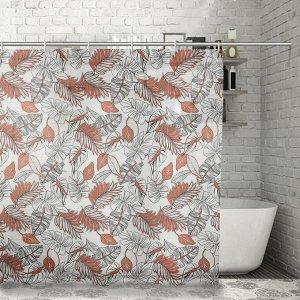 Штора для ванной комнаты Доляна «Джунгли», 180?180 см, EVA