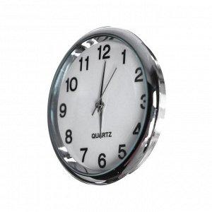 Часы автомобильные, внутрисалонные, диаметр 4.5 см, белый циферблат