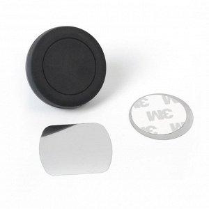 Держатель телефона магнитный Cartage в дефлектор, прорезиненный, черный