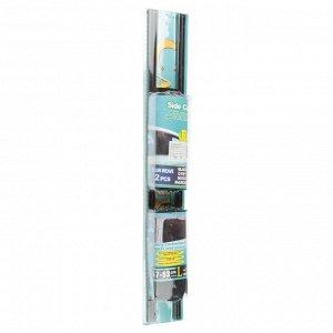 Шторки солнцезащитные раздвижные, ширина 70 см, высота 47-53 см. комплект 2 шт