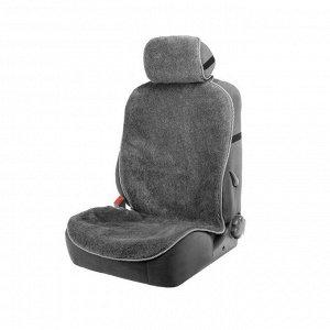 Накидка на сиденье, натуральная шерсть, 145 х 55 см, серая