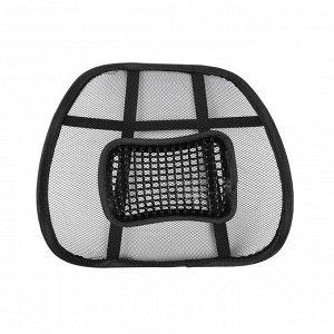 Ортопедическая спинка на сиденье с массажером на сиденье 38x39 см