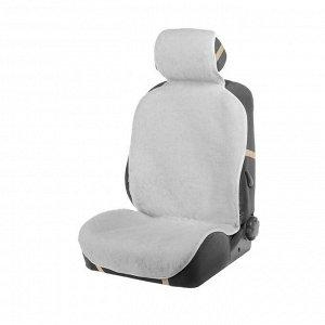Накидка на сиденье, натуральная шерсть, 145х55 см, белая