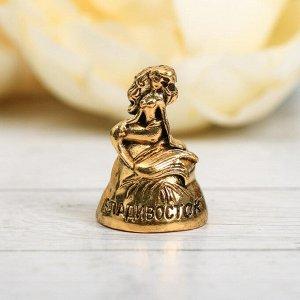 Напёрсток сувенирный «Владивосток», зoлoто