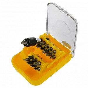 Адаптер с битами TOPEX, набор 18 шт., магнит, в удобном пластиковом кейсе