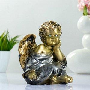 """Фигура """"Ангел сидя"""" бронза 18х14х12см"""