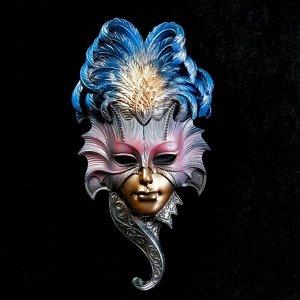 """Венецианская маска """"Сова""""  28см золото МИКС"""