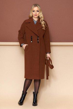 """Пальто """"Р-35"""" (кашемир коричневый)"""